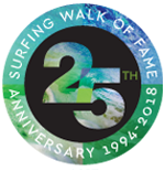 Surfing Walk of Fame 25th Anniversary logo