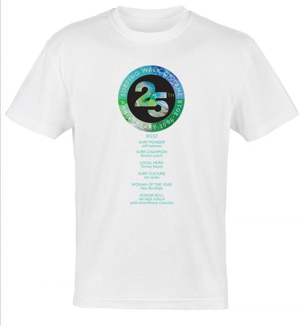 Surfing Walk of Fame 25th anniversary t-shirt