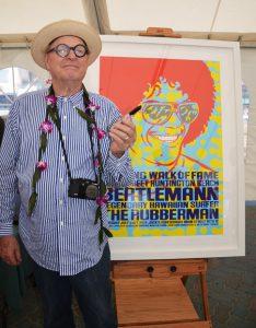John Van Hamerveld with Larry Bertleman poster