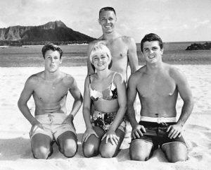 Mike Haley, Hobe Alter, Linda Benson, and Dave Willingham at Waikiki