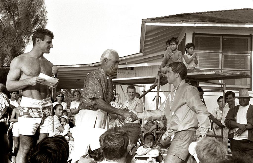 Duke Contest Fred Van Dyke, Duke Kahanamoku & Felipe Pomar