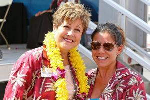 Mayor Barbara and Sarah Long
