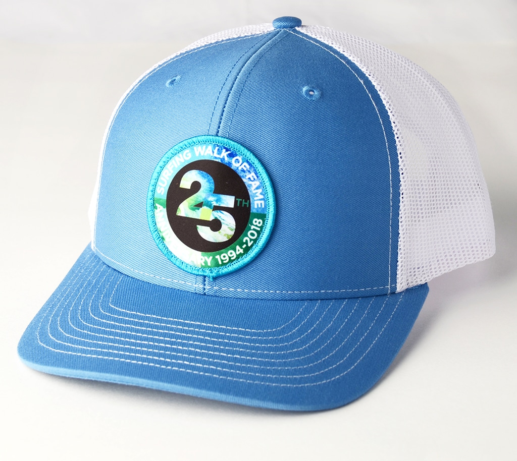 25 30 Anniversary Cap: Surfing Walk Of Fame 25th Anniversary Embroidered Patch